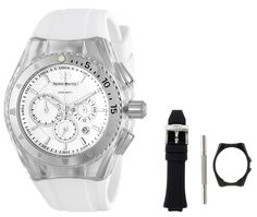 TechnoMarine Unisex 110046 Cruise Original Chronograph Silver Dial Watch