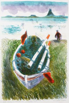 """""""Old Rope, Lindisfarne"""" by Bernard Cheese (lithograph)"""