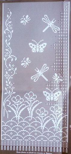 LOVE this filet crochet design