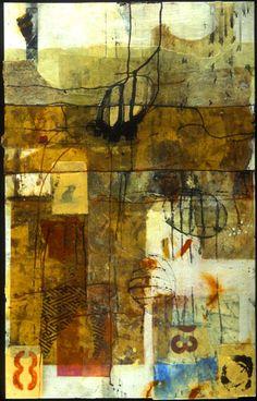 Encaustic Artist Mary Black - Encaustic Art Mixed Media on Paper - Awakened Instinct