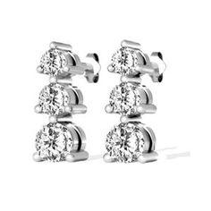 Diamant Ohrringe aus 585er Weißgold mit 1.00 Karat Diamanten. Diese Diamantohrringe sind für nur 1499.00 Euro bei www.juwelierhausabt.de erhältlich.