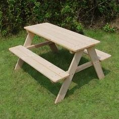 Beautiful Kid's Wood Picnic Table by Atlantic Outdoor baby kid teen offer from top store Picnic Table With Umbrella, Picnic Table Bench, Wooden Picnic Tables, Outdoor Picnic Tables, Kids Picnic Table Plans, Outdoor Baby, Rustic Outdoor, Outdoor Decor, Small Kids Table
