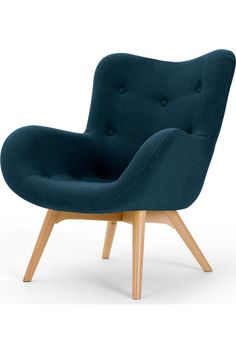 MADE Accent Chair, Shetland Navy. Doris Armchairs Collection from MADE. Scandi Living Room, Living Room Chairs, Living Room Furniture, Pallet Furniture, Navy Accent Chair, Accent Chairs, Room Paint Colors, Paint Colors For Living Room, Hallway Chairs