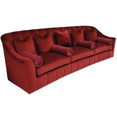 hollywood regency sofa couch davenport flexsteel. Black Bedroom Furniture Sets. Home Design Ideas