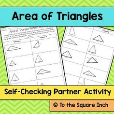 Area of Triangles Partner Activity