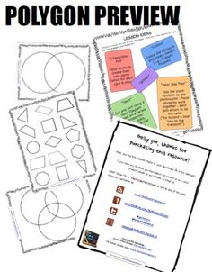 Geometry - Polygons (triangles, quadrilaterals, parallelograms, & more)