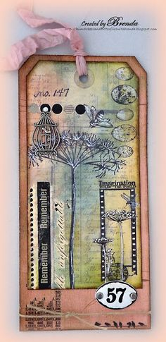 #papercraft #tags made by Bumblebees and Butterflies: TimHoltz 12 Tags of 2013