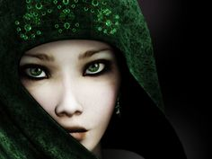 Free mysterious girl,cute,emerald eyes Wallpaper - Download The Free mysterious girl,cute,emerald eyes Wallpaper - Download Free Screensavers, Free Wallpapers, Play Free Games and Send Free eCards