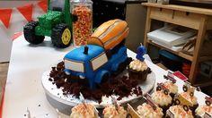 Cement mixer cake Cement, 2nd Birthday, Mixer, Baking, Party, Desserts, Food, Tailgate Desserts, Deserts
