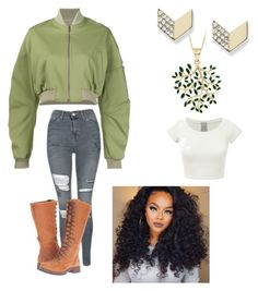 """""""Casual day"""" by slytherian4life ❤ liked on Polyvore featuring Rosie Assoulin, FOSSIL, Topshop and Timberland"""