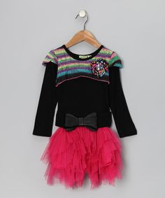 Take a look at this Black & Pink Midnight in Paris Dress - Toddler & Girls by Little Mass on #zulily today!