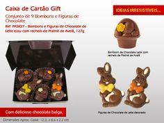 Coelhinhos de chocolate, bombons recheados..! Já escolheu o seu docinho para esta Páscoa? www.mysweets4u.com