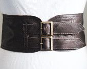 Dark Brown Corset Leather Two Buckle Belt | Brown Belt | Corset Waist Belt | Leather Buckle Belt | Buckle Belt