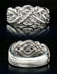 guy wedding rings crystal realm store rings hand woven puzzle wedding - Puzzle Wedding Rings