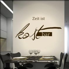 Our wall tattoo Time is precious for pubs, bars and the gastronomy we offer in many beautiful colors Wall Tattoo, Time Tattoos, Kitchen Trends, Cozy Place, Cafe Bar, Restaurant Bar, Wall Design, Wall Decals, Kitchen Decor