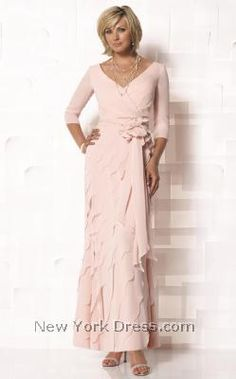 Take everyone`s breath away by showing up in this exquisite Cameron Blake 112649 gown! Its fitted, wraparound top has a broad V-neckline and slim,