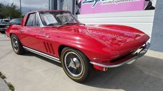 1965 Chevrolet, Corvette  1965 Corvette Hardtop / Convertible. Factory Original 327/365HP motor with an Original Red/Black trim tag. This car has been one-family owned and shows an original 37,000 miles on the odometer. Includes rare power windows, bill of sale, window sticker, protect-o-plate, and rare factory build sheet. Full frame-off restoration was completed in January 2014 with NCRS Top Flight  ..  http://www.collectioncar.com/detailed.php?ad=52017&category_id=1
