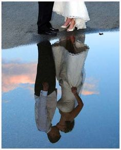 maybe in front of a reflection pool. i would NOT want to get my dress dirty