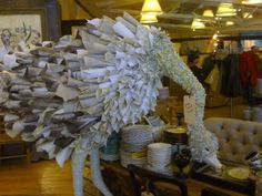 Anthropology in-store display. Very delicate and goes along with the brand and Anthropology products.