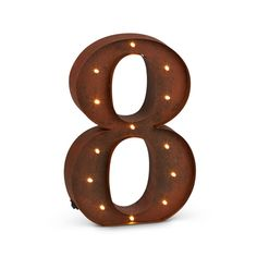 """12""""H Battery Operated LED Letter, Timer, Number 8"""