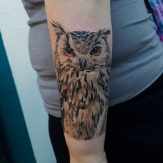 We started Hayley's Harry Potter themed sleeve with a lovely owl today. Thanks…
