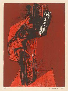 Vincent Hložník - 37 - List z cyklu Veselý zvierací svet Collage Illustration, Printmaking, Contemporary Art, Artsy, Printing, Collage, Prints, Modern Art, Contemporary Artwork