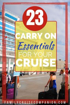 Your carry-on cruise bag should have everything you need to actually board the cruise ship, check-in smoothly, and start enjoying the ship activities and amenities right away! Find out what essentials you need for your cruise bag. + Free Printable Checklist! Packing For A Cruise, Cruise Travel, Packing Tips For Travel, Cruise Vacation, Best Cruise, Cruise Port, Cruise Tips, Norwegian Cruise Line, Alaskan Cruise