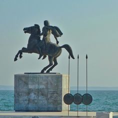 ggouthas Monument dedicated to Alexander The Great, Thessaloniki… Macedonia Greece, Hellenistic Period, Greek Warrior, Alexander The Great, Thessaloniki, Monuments, Ghosts, Amazing Places, The Good Place