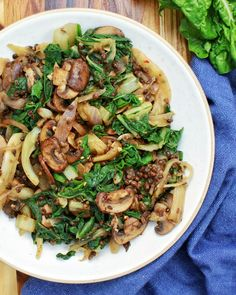 Swiss Chard with Fennel, Lentils & Mushrooms - My Body My KitchenYou can find Mushrooms and more on our website.Swiss Chard with Fennel, Lentils & Mushrooms - My Body My Kitchen Lentil Recipes, Pasta Recipes, Soup Recipes, Salad Recipes, Vegetarian Recipes, Free Recipes, Recipies, Dinner Recipes, Healthy Recipes