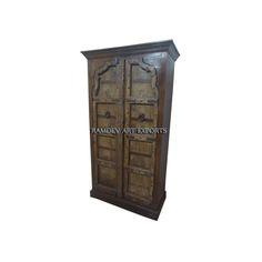 Indian Rajasthani Two Door Almirah | Indian Rajasthani Two Door Cabinet | Indian Rajasthani Two Door Armoire | Indian Rajasthani Two Door Wardrobe | Indian Rajasthani Two Door Almirah