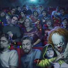 27 years after overcoming the malevolent supernatural entity Pennywise, the former members of the Losers Club, who have grown up and moved away from Derry, are brought back together by a devastating phone call. Horror Movies Funny, Horror Movie Characters, Scary Movies, Halloween Movies, Clown Horror Movie, Movies Quotes, Movie Memes, Indie Movies, Comedy Movies