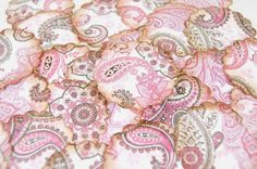 Pink Paisley Stickers Envelope Seals SES22P by PinkiesPalace