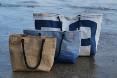 Bags from reclaimed sails