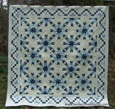 "Snowflake Quilt, 90 x 90"", pattern and kit at Border Creek Station"