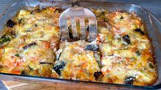 Γιατί δεν έχω αυτήν τη συνταγή πριν; υγιεινή και φθηνή τροφή σε 10 λεπτά Eggplant Dishes, Eggplant Recipes, Side Dish Recipes, Vegetable Recipes, Vegetarian Recepies, Cafeteria Food, Veggie Casserole, Dinner Entrees, Cooking Recipes