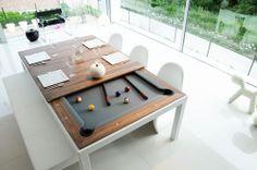 Moderner 2-in-1 Tisch und Billardtisch 82TAB21SW72M30NV METAL LINE Fusiontables