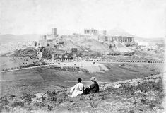 Old view of Parthenon, Athens Athens Acropolis, Athens Greece, Old Pictures, Old Photos, Greece Tours, Old Greek, Los Angeles Museum, Greek History, Athens History