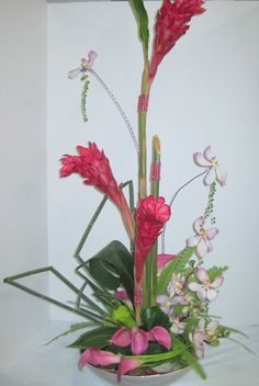 Just had a client ask me about using pink ginger in her centerpieces