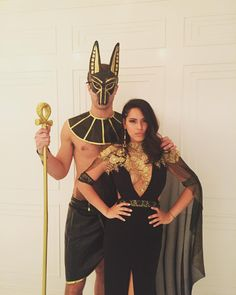 Couples Halloween Outfits, Cute Couple Halloween Costumes, Cute Costumes, Costume Ideas, Disfarces Halloween, Trendy Halloween, Halloween Makeup, Egyptian Costume, Egyptian Makeup