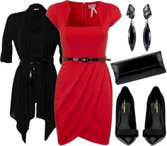 """""""Red and Black"""" by stay-at-home-mom on Polyvore"""