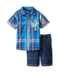 47% OFF Boys Rock 2-Piece Woven Short Set (Blue)