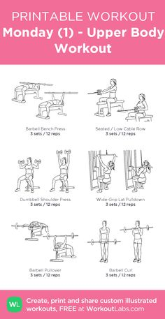 Monday (1) - Upper Body Workout