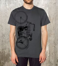 1908 Vintage Motorcycle T-Shirt - Men's / Unisex American Apparel - Available in S, M, L, XL and 2XL