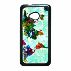 Abstract World Map six HTC One M7 Case