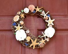 Beach Decor Nautical Door Wreath Beach by TutuKanesInspiration