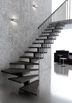 How to choose and buy a new and modern staircase – My Life Spot Steel Stairs, Loft Stairs, House Stairs, Loft Conversion Stairs, Escalier Art, Stairs To Heaven, Stairs Stringer, Modern Stairs, Floating Stairs