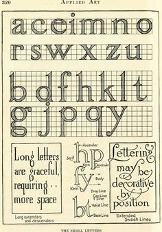 Vintage Clip Art - Lovely Lettering - Typography - The Graphics Fairy