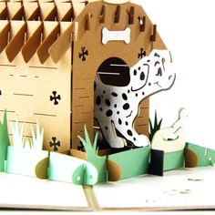 Dog House 3D Pop Up Card