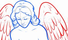 how to draw a weeping angel step 6