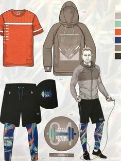 146 pages you will find everything necessary for successful, market-driven and fashionable casual and sportive Men and Women collections. Sport Shirt Design, T Shirt Sport, Sport Wear, Fashion Illustration Tutorial, Shirt Template, Mens Trends, Fashion Portfolio, Fashion Design Sketches, Mens Activewear